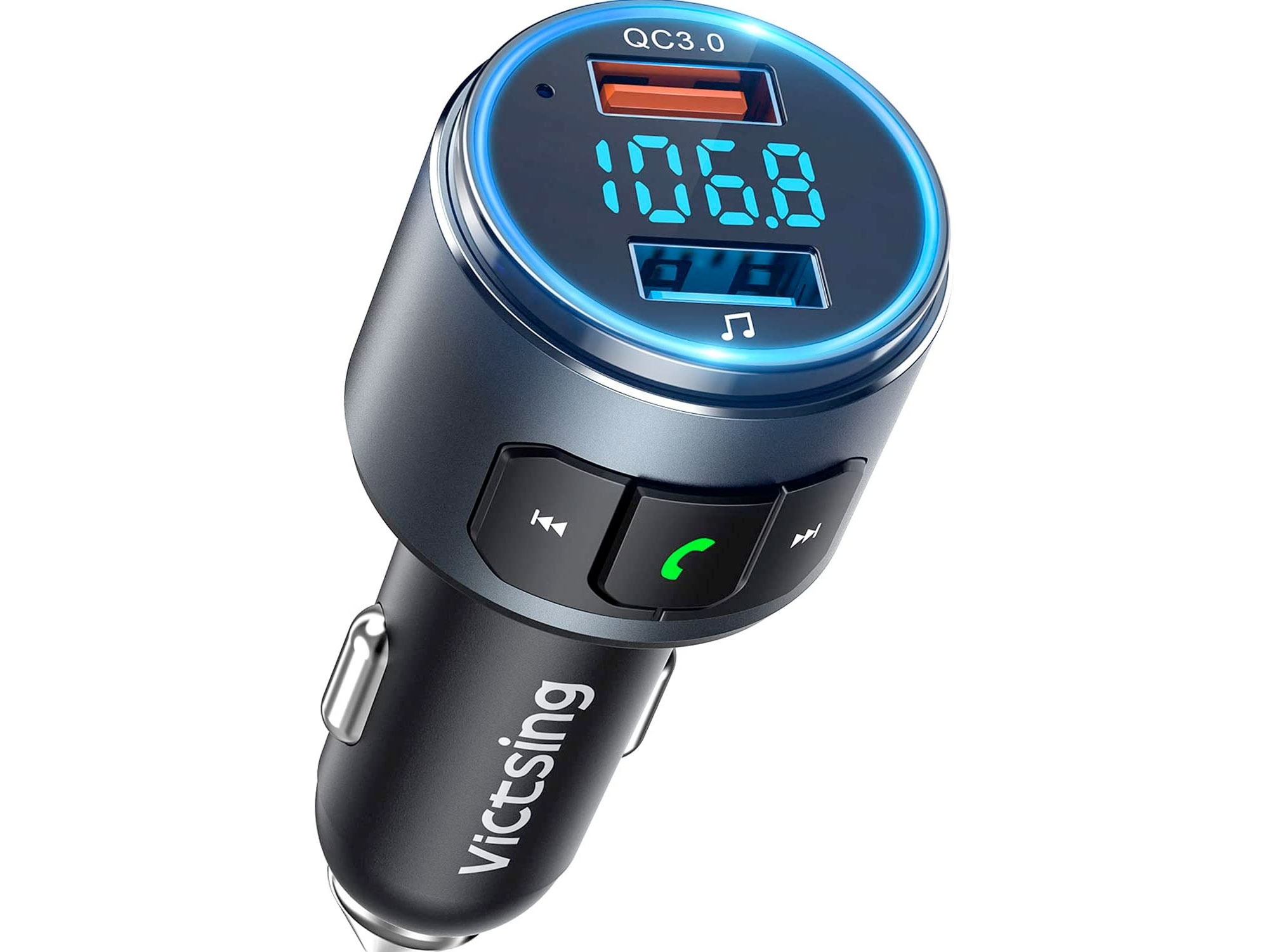 Amazon:VicTsing藍牙接收FM播放器(FM Transmitter for Bluetooth/USB)只賣$18.35