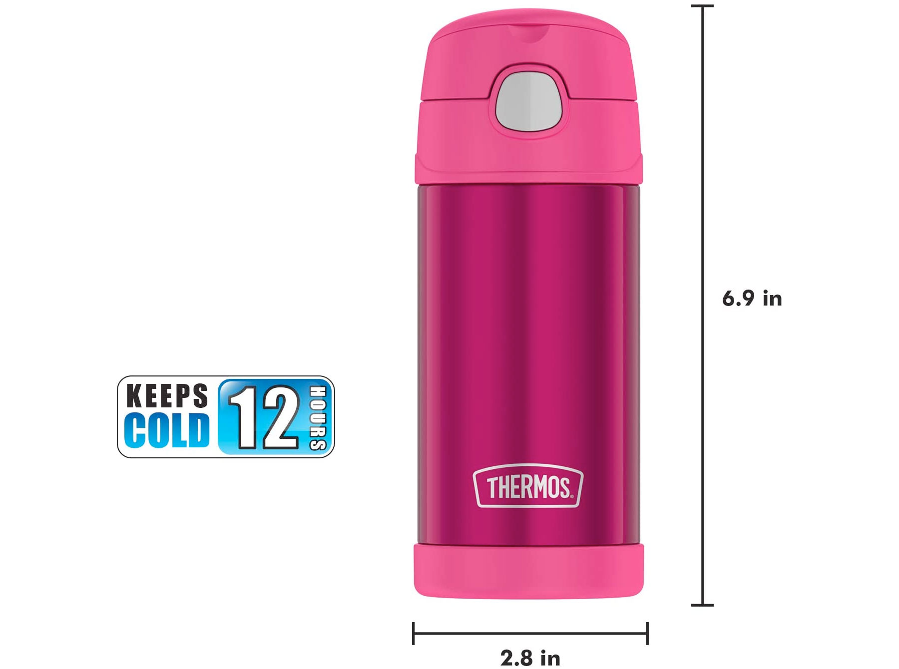 Amazon:Thermos Vacuum Insulated Bottle(12oz,保暖瓶)只賣$8