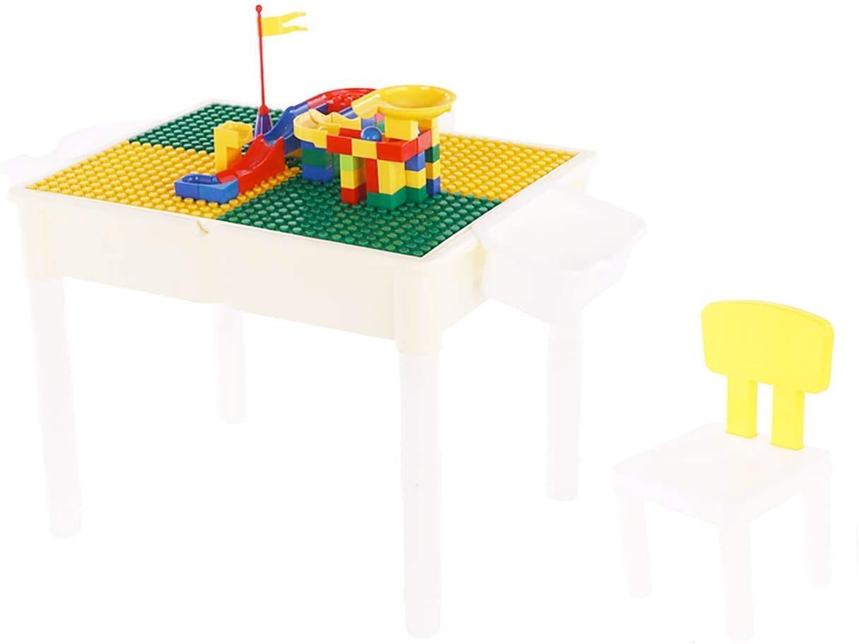 Amazon:Multi Activity Table Chair Building Blocks Set (Table + Chair + 2 Storage Boxes + 56pcs Blocks)只賣$41.99