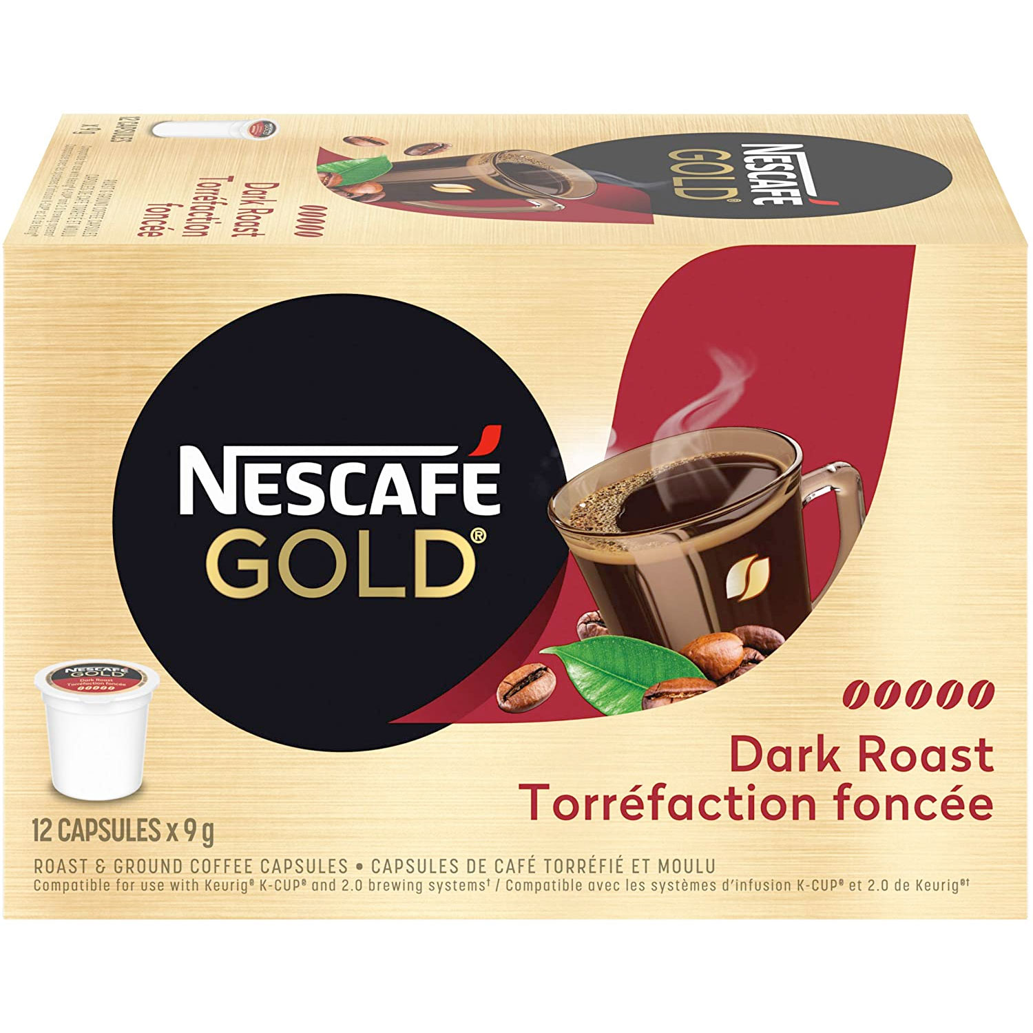 Amazon:Nescafé Gold Dark Roast Coffee (72 K Cups)只賣$29.70