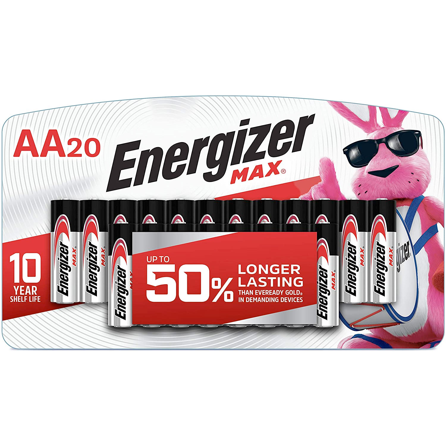 Amazon:Energizer MAX AA Batteries(20-Count)只賣$7.88