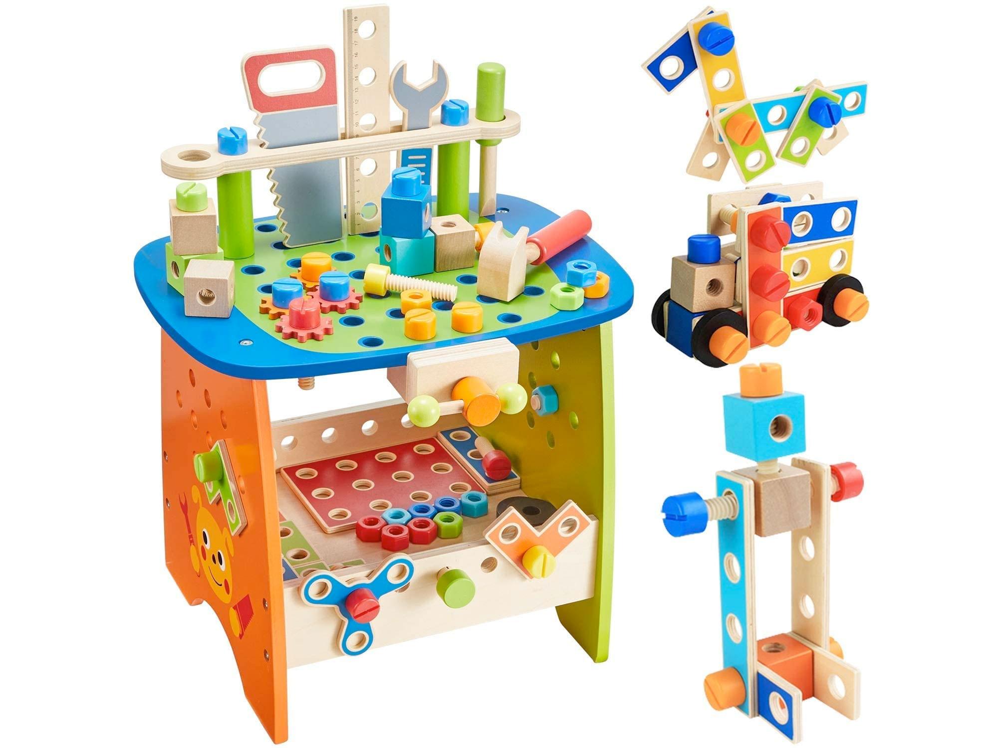 Amazon:Construction Toy Tool Bench(89 pcs)只賣$28.39