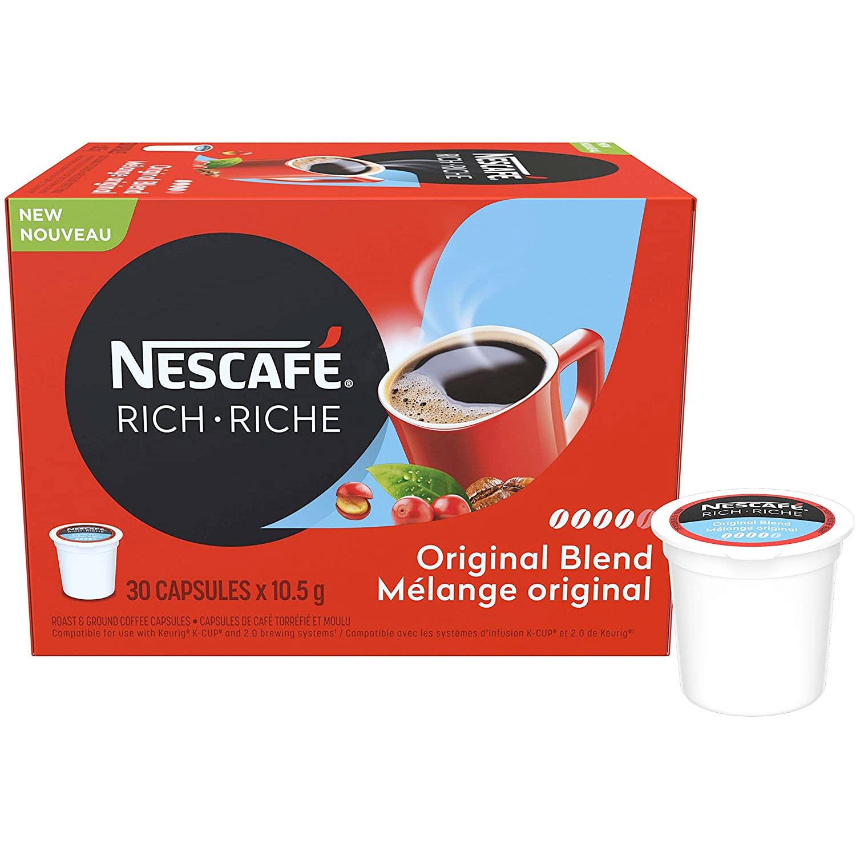Amazon:NESCAFÉ Rich Original Coffee Capsules(30 count)只賣$10