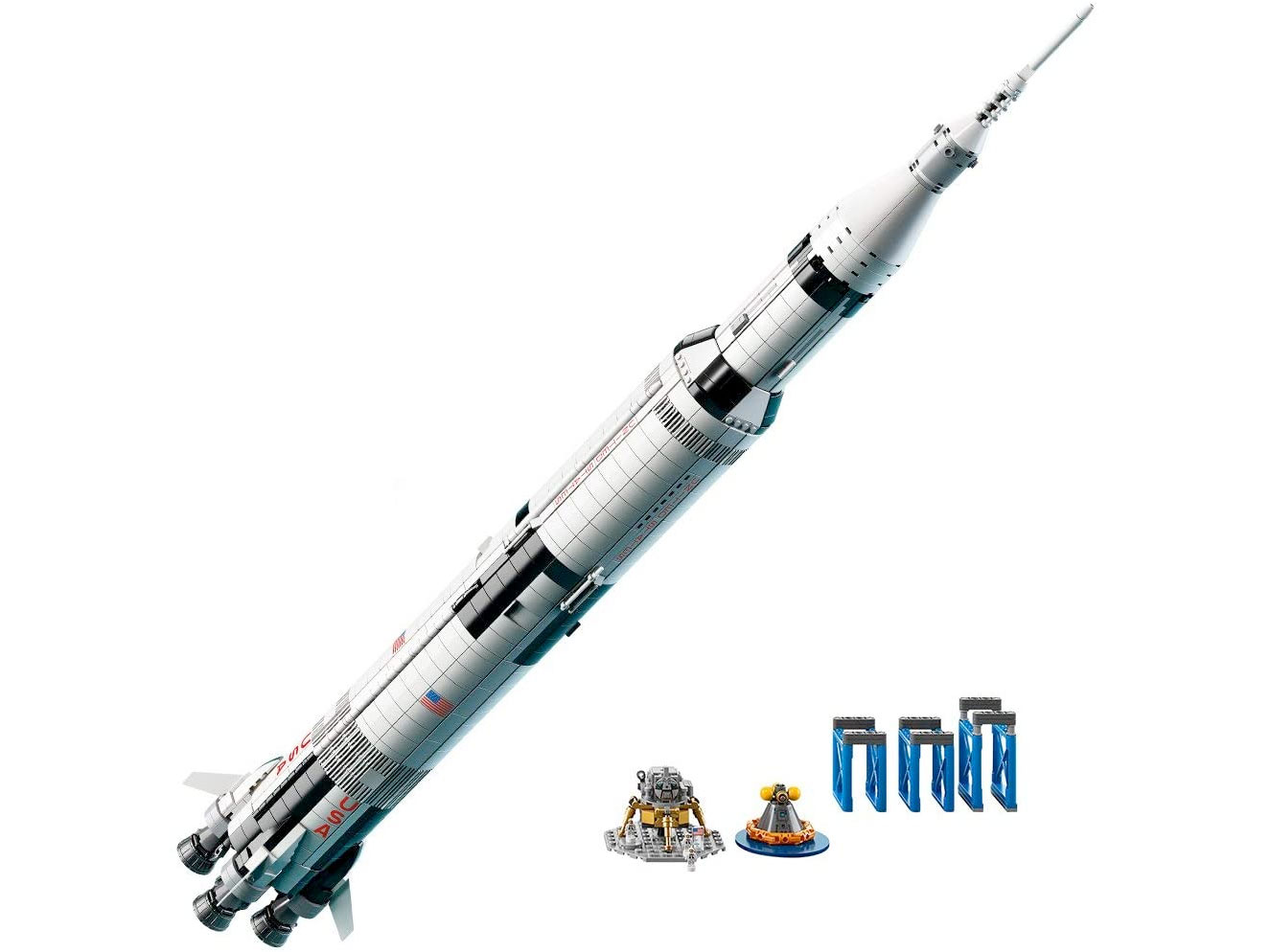 Amazon:LEGO Ideas NASA Apollo Saturn V 92176 (1969 pcs)只賣$120.40