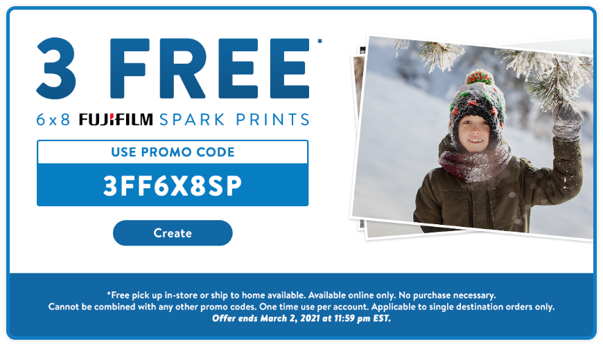 Walmart:免費三張6×8 相片沖晒