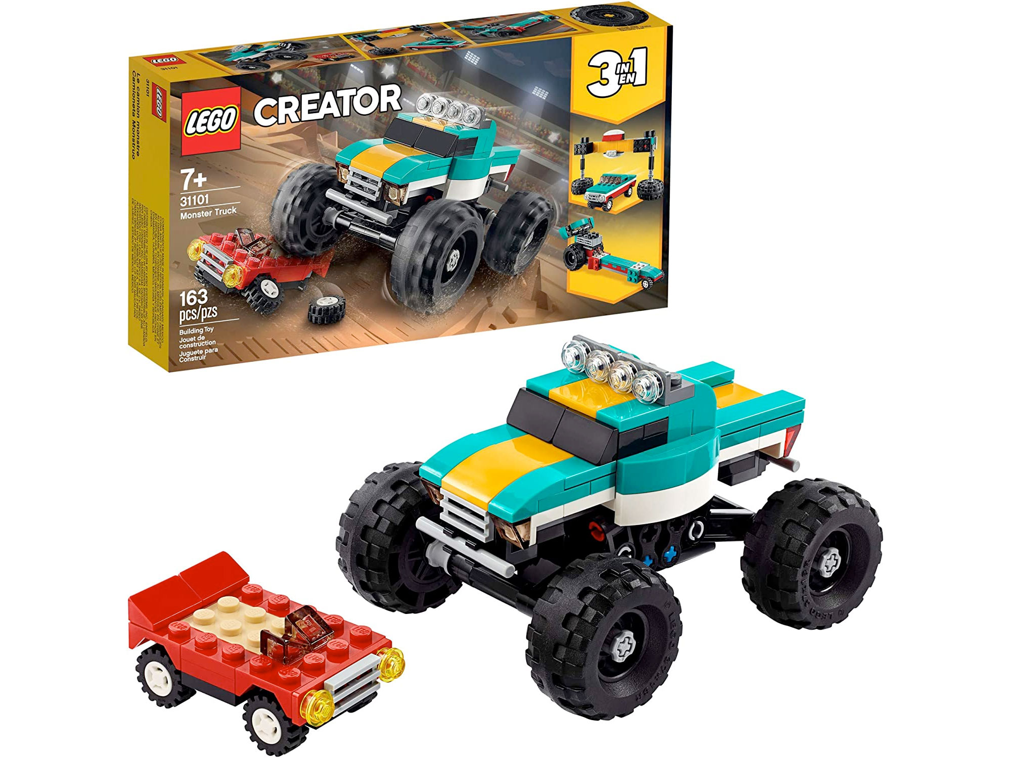 Amazon:LEGO Creator 3in1 Monster Truck Toy 31101(163 pcs)只賣$16.97
