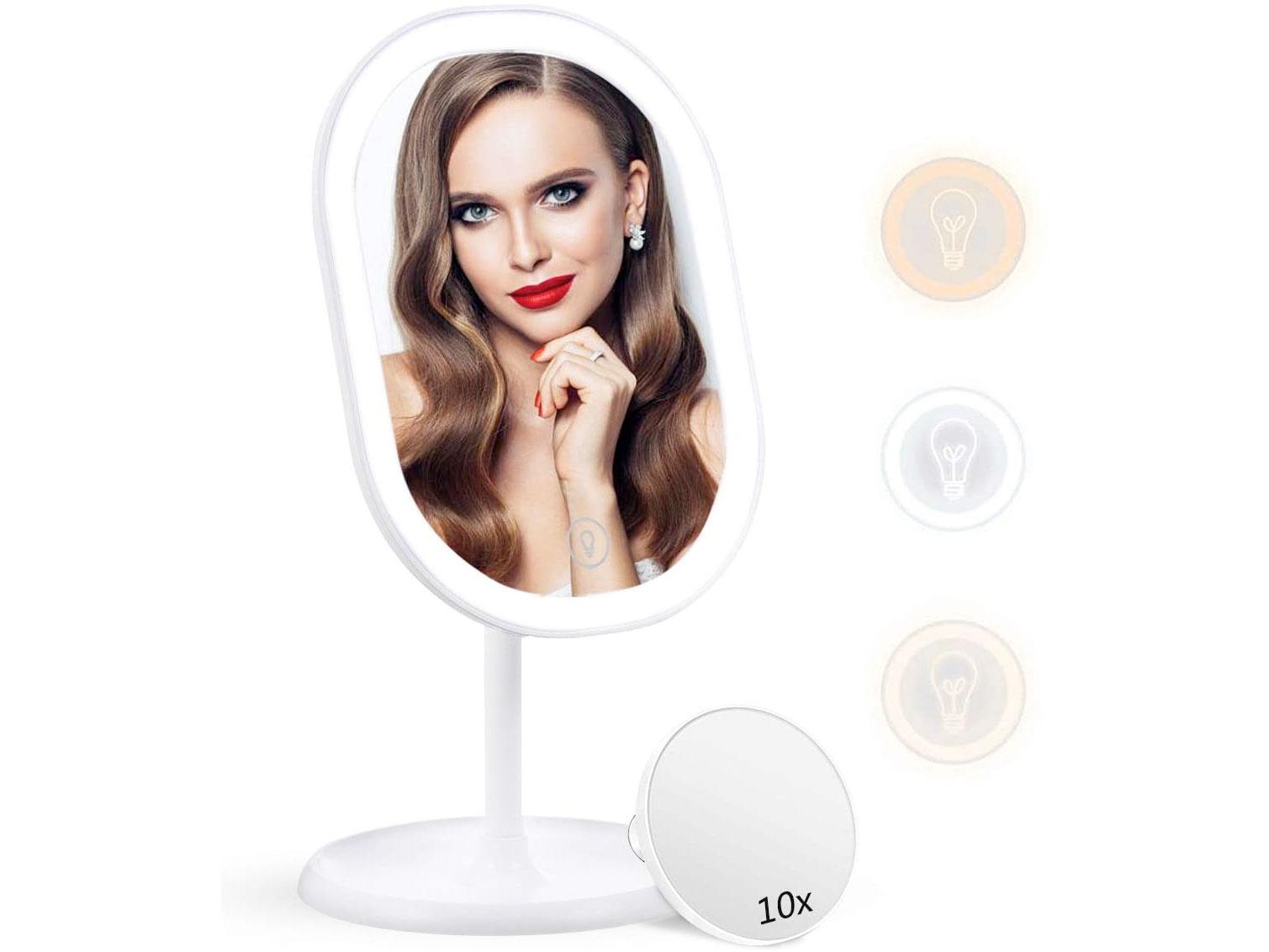 Amazon:LED Lighted Makeup Mirror只賣$14.99
