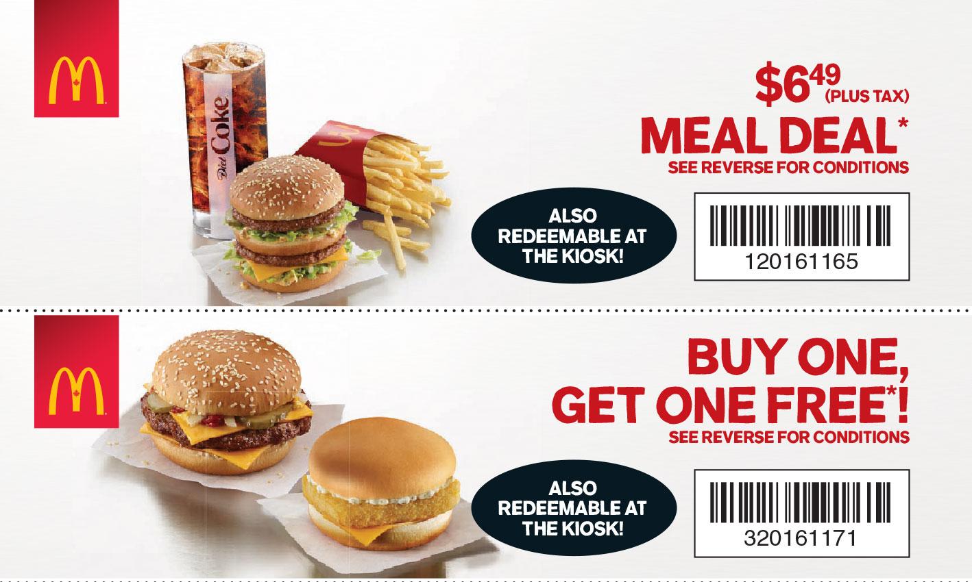 McDonald's:買一個包類,第二個包類免費