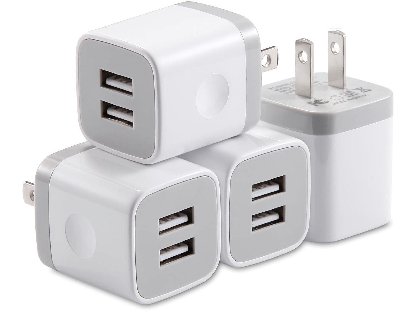 Amazon:USB Wall Charger (4 Pack)只賣$10.88