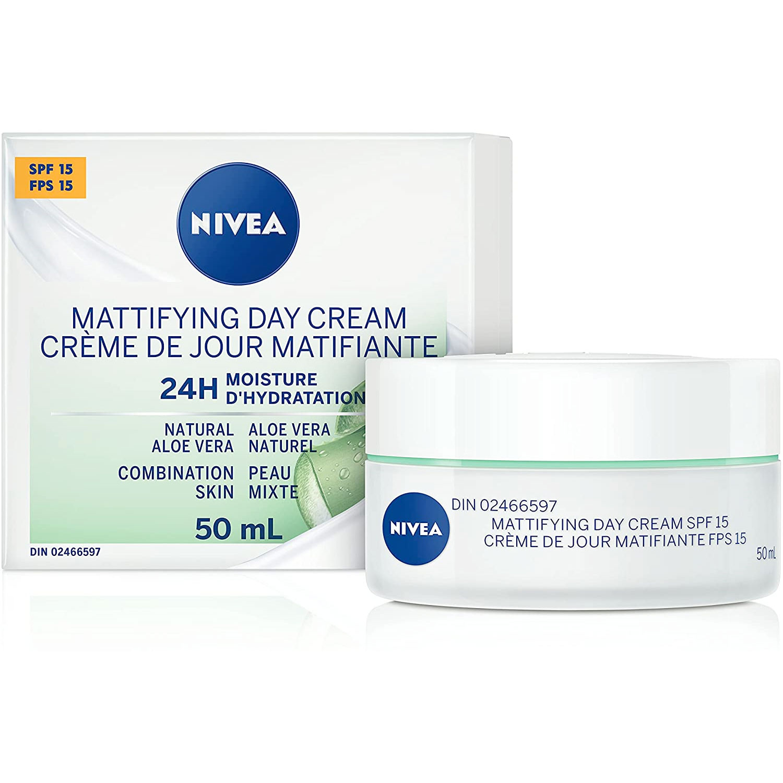 Amazon:NIVEA Essentials 24H Moisture Boost + Matte Day Cream with SPF 15 (50 mL)只賣$5.99