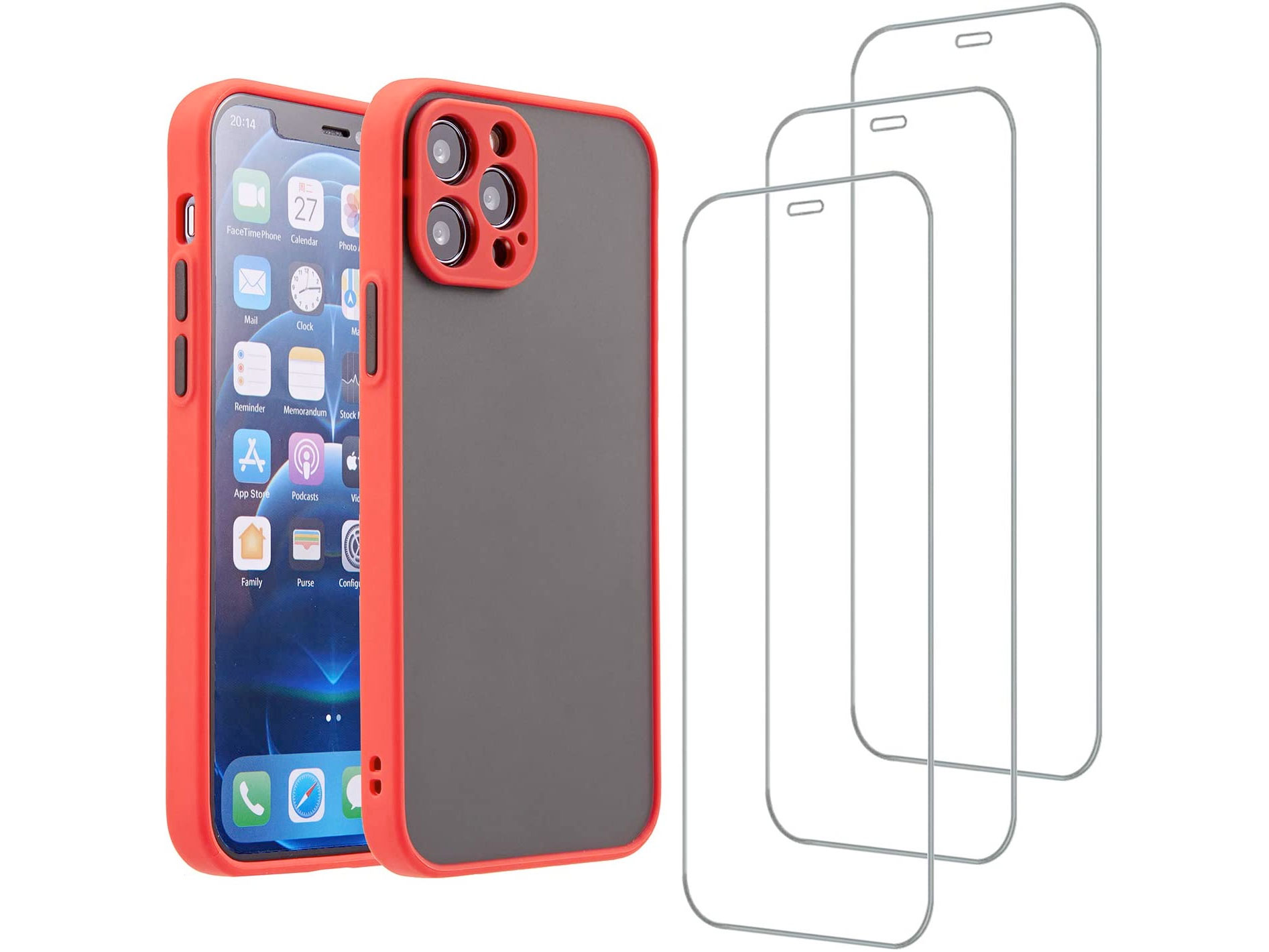 Amazon:iPhone 12 Pro Case + 3 Pack Screen Protector Tempered Glass只卖$3.49